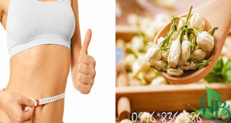 trà hoa nhài hỗ trợ giảm cân