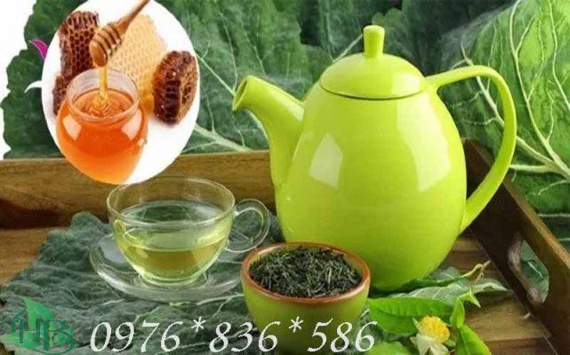 Pha trà tâm sen mật ong