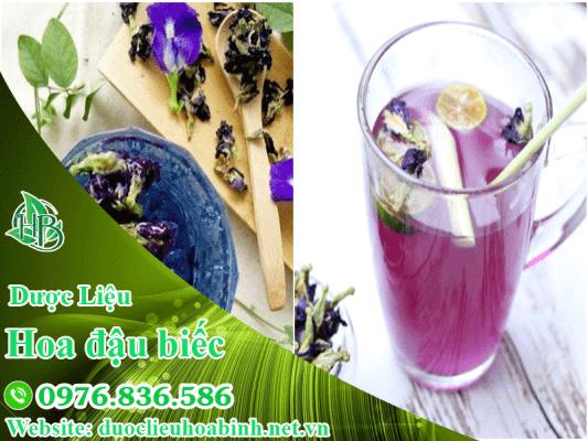 Trà đậu biếc với quất, sả và mật ong
