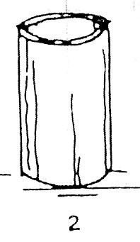 Vỏ bầu bằng ống nứa